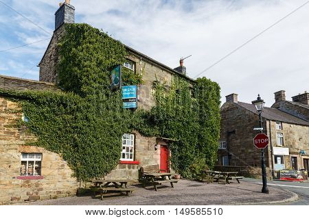 LONGNOR ENGLAND - SEPTEMBER 28: The currently vacant and for sale