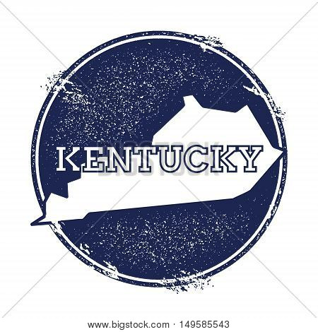 Kentucky Vector Map. Grunge Rubber Stamp With The Name And Map Of Kentucky, Vector Illustration. Can