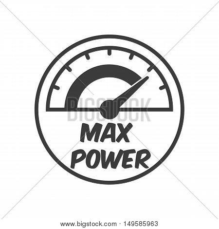 The Tachometer, Speedometer And Indicator Icon. The Tachometer, Speedometer And Indicator Vector Iso