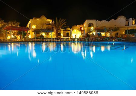 Water Pool At Night