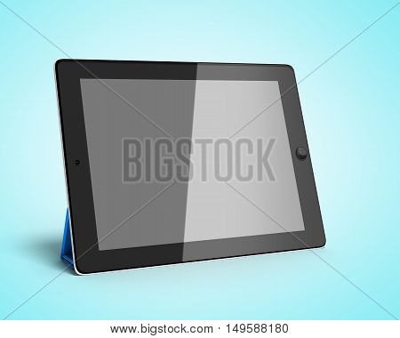 Digital Tablet 3D Render Isolated On Gradient