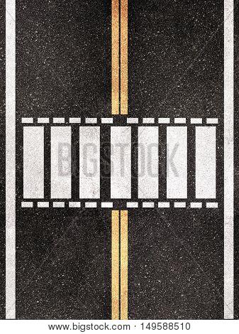 3d illustration of a pedestrian crossing pattern