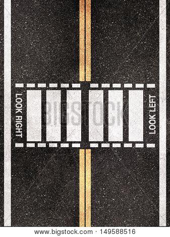 3d illustration of a London pedestrian crossing pattern