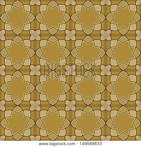 Gorgeous Seamless Arabic Tile Pattern Design. Islamic Wallpaper or Background.