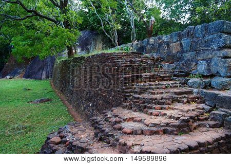 Ancient stones of Sigiriya in the jungle