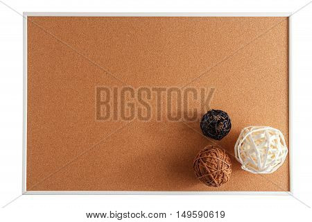 Bulletin Board Isolated On White