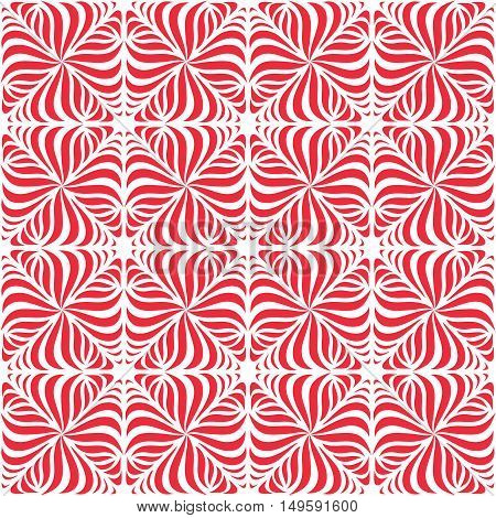 Seamless geometrical pattern. Abstract repeating background in red.