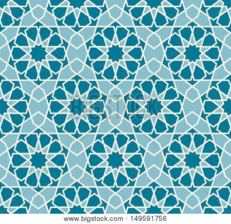 Vector seamless pattern. Colorful ethnic ornament. Arabesque style. Islamic art.
