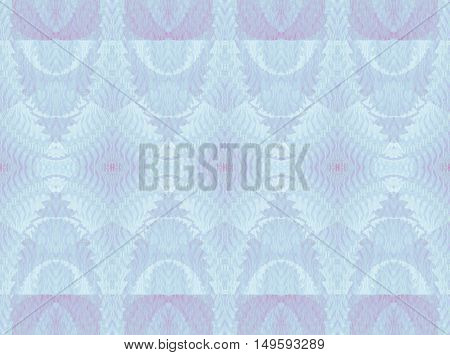 Abstract geometric seamless retro background. Regular diamond pattern in pastel blue and purple shades, ornate and delicate.