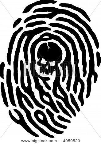 Thumbprint Skull