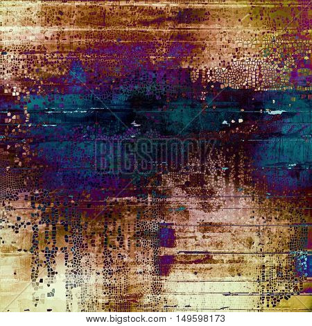Abstract grunge background or damaged vintage texture. With different color patterns: yellow (beige); brown; blue; purple (violet)