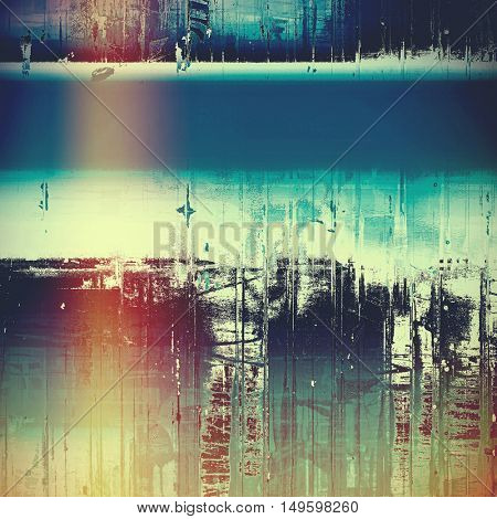 Grunge texture in ancient style, aged background with creative decor and different color patterns: yellow (beige); gray; blue; red (orange); purple (violet); cyan