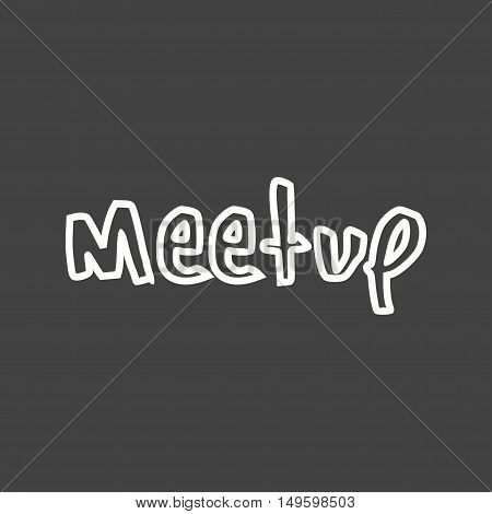 Meetup, group, media icon vector image. Can also be used for social media logos. Suitable for mobile apps, web apps and print media.
