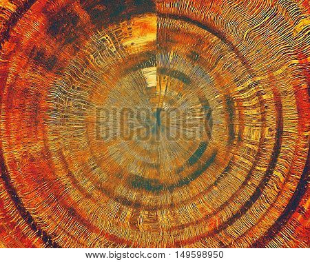 Spherical grunge antique frame, vintage style background. With different color patterns: yellow (beige); brown; blue; red (orange); purple (violet)