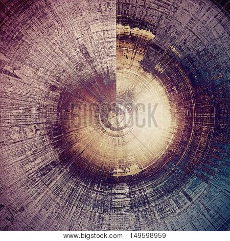 Spherical retro abstract background, vintage grunge texture with different color patterns: yellow (beige); brown; gray; blue; purple (violet)