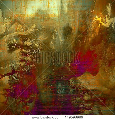 Grunge antique frame, vintage style background. With different color patterns: yellow (beige); brown; gray; green; red (orange); purple (violet)