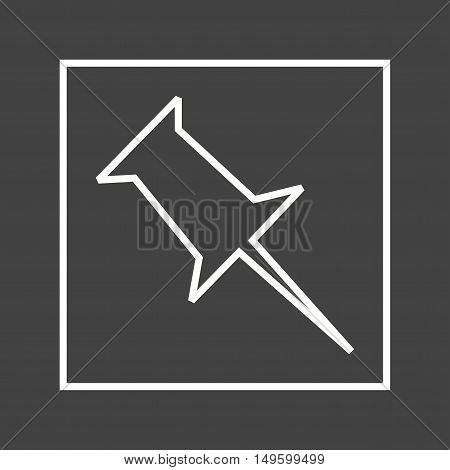 Pinboard, design, media icon vector image. Can also be used for social media logos. Suitable for mobile apps, web apps and print media.