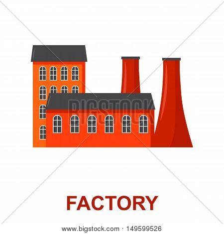Factory icon of vector illustration for web and mobile design