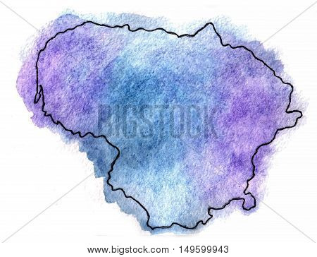 Lithuania vector map illustration national north object