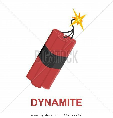 Dynamite icon cartoon. Singe western icon from the wild west collection.
