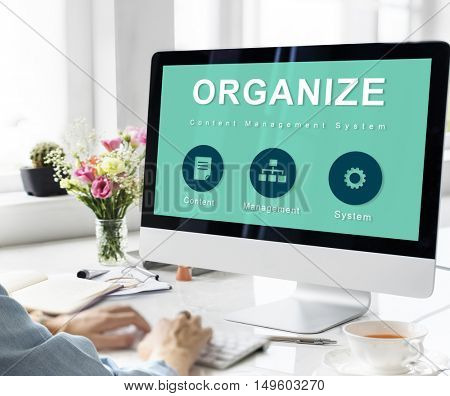 Organize Website Development Data Network Concept