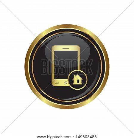Phone icon with home menu. Vector illustration