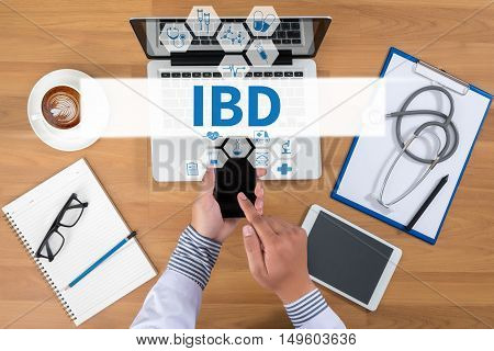 Ibd - Inflammatory Bowel Disease. Medical Concept