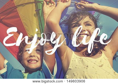 Enjoy Life Live Laugh Love Free Spirit Simple Concept