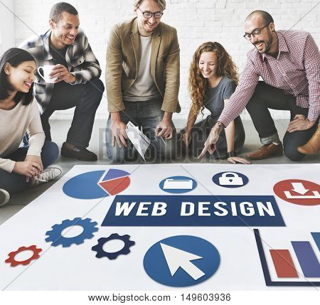 Web Design Business People Concept