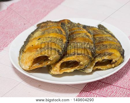Dried Fried Snake Skin Gourami Fish, Thailand Call
