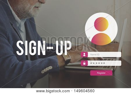 Sign Up User Password Privacy Concept