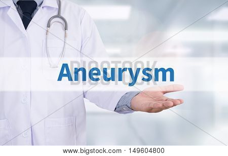 Aneurysm Medicine doctor hand working Doctor work hard and Doctor medical