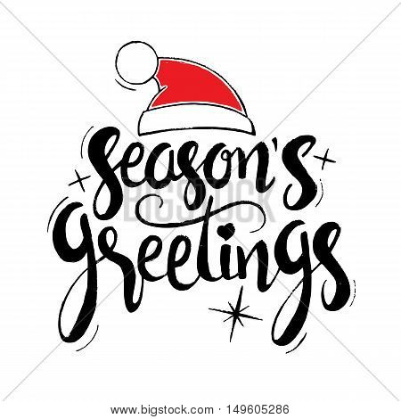 Season's Greetings Hand Drawn Lettering