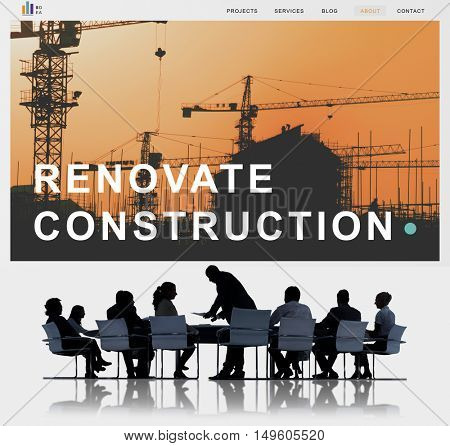 Building Construction Engineering Renovate Site Concept