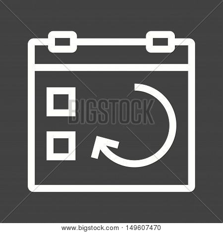 Sync, update, day icon vector image. Can also be used for user interface. Suitable for mobile apps, web apps and print media.