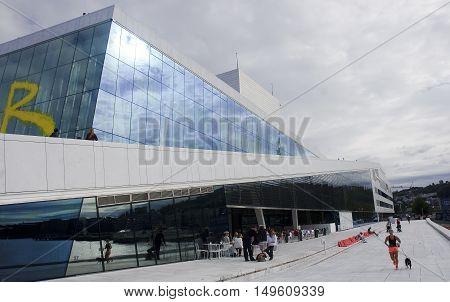 Oslo, Norway - September 17, 2016: Oslo Opera House On 17 Septem