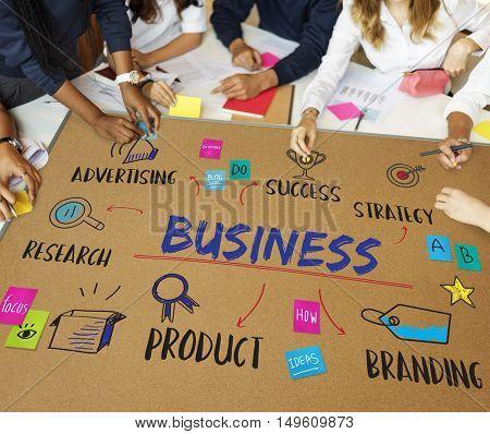 Business Goal Investment Plan Diagram Concept