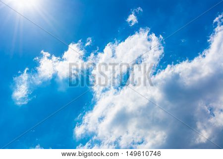 beautiful blue sky for background