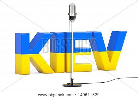 Eurovision Song Contest 2017 in Ukraine on a white background. 3d Rendering