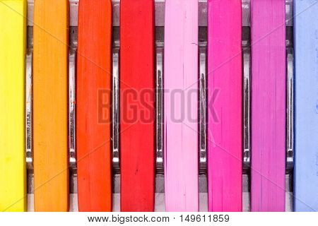Bunch Of Square Colorful Pastel Chalks In A Box Closeup