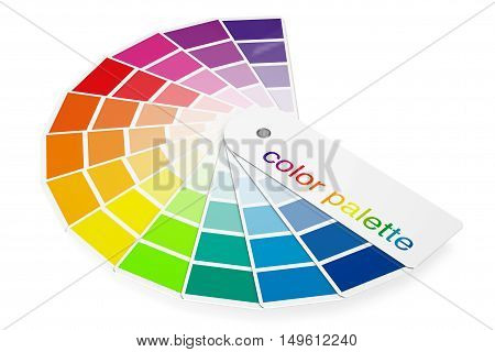Color Palette Guide on a white background. 3d Rendering