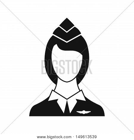 Stewardess icon in simple style on a white background vector illustration