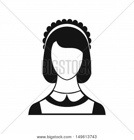 Maid icon in simple style on a white background vector illustration