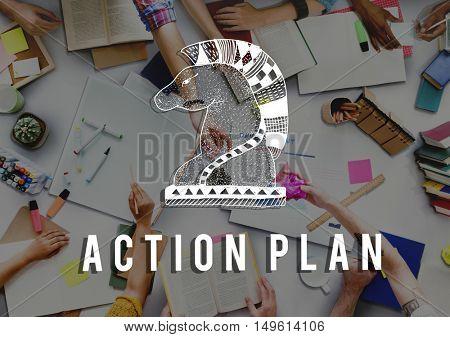 Action Plan Active Business Inspiration Vision Concept
