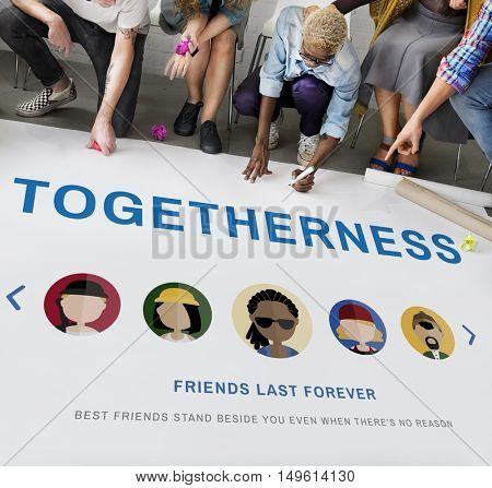 Friendship Togetherness Relationship Diversity People Concept