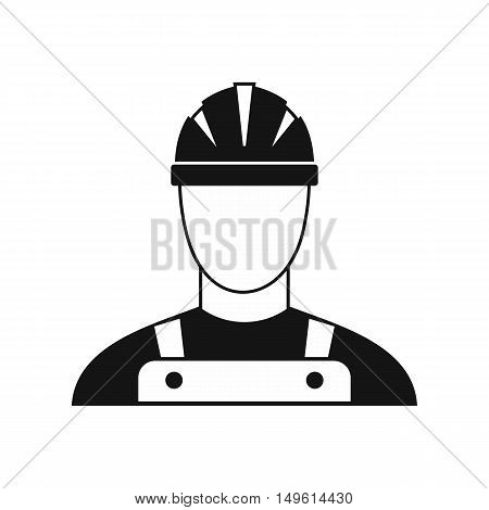 Builder icon in simple style on a white background vector illustration