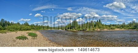 River panorama in the national Park