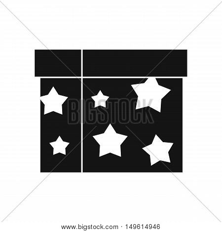 Box magician icon in simple style on a white background vector illustration