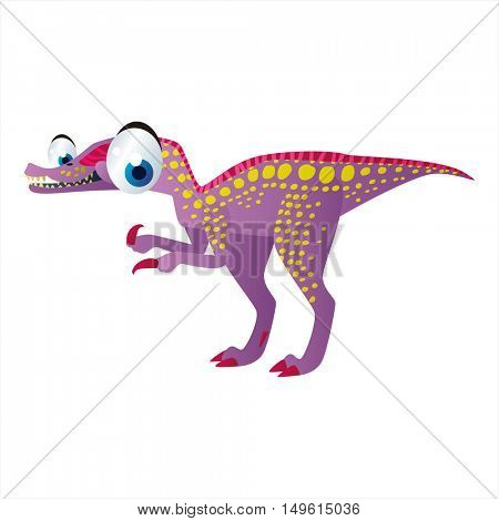 cute vector comic cartoon animal. Cool colorful dinosaur Baryonyx