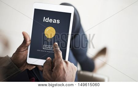 Ideas Creative Thinking Strategy Bulb Concept